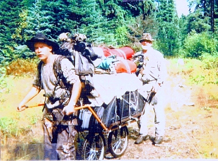 Neet Kart Game Hauler, used to haul 400 pounds of camp gear into a back country camp.